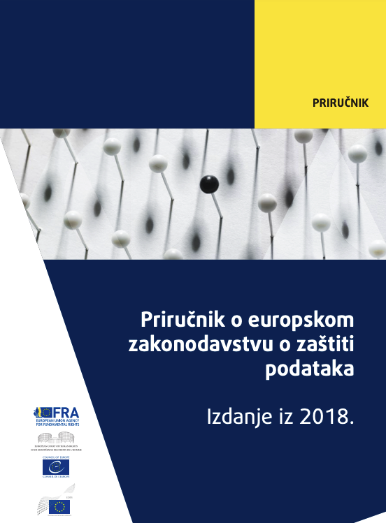 Priručnik o europskom zakonodavstvu o zaštiti podataka