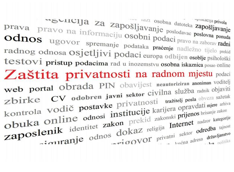 """Brošura """"Zaštita privatnosti na radnom mjestu"""""""
