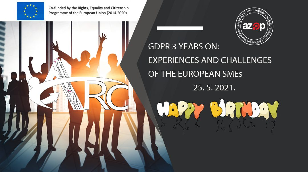 "Link za sudjelovanje na međunarodnoj konferenciji ""GDPR 3 years on: The experiences and challenges of the European SMEs"""