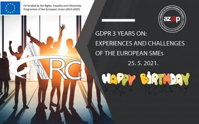 """Konferencija """"GDPR 3 years on: The experiences and challenges of the European SMEs"""""""