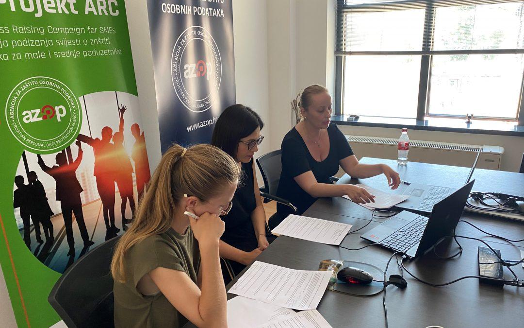 """Održana EU ARC radionica """"Kako uskladiti poslovanje s Općom uredbom o zaštiti podataka"""" namijenjena obrtnicima"""