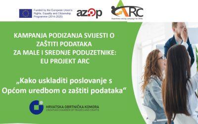 EU ARC projekt: prijave za besplatnu GDPR online radionicu namijenjenu obrtnicima